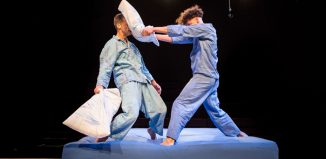 Wilkie Branson and Joel Daniel in Boing! directed by Sally Cookson. Photo: Helen Murray