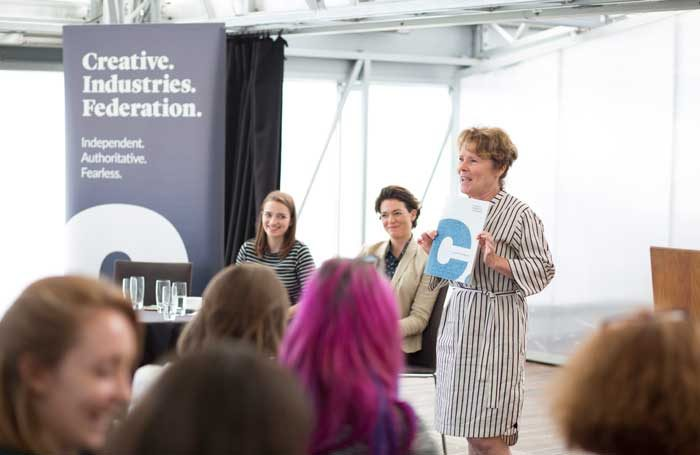 Imelda Staunton at the launch of the Creative Industries Federation's report. Photo: Tom Nelson