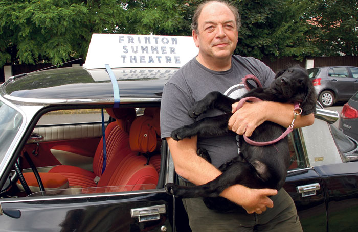 Co-artistic director Clive Brill with his dog Django