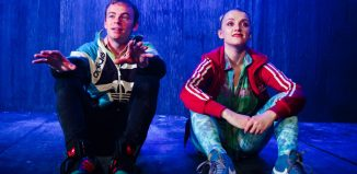 Colin Campbell and Evanna Lynch in Disco Pigs at Trafalgar Studios, London. Photo: Alex Brenner
