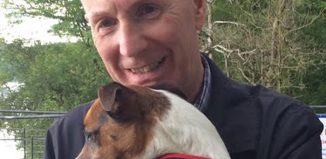 Peter Austin with his dog Reg