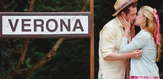 Jack Whitam and Megan Tyler in Two Gentlemen of Verona in Guildford. Photo: Matt Pereira