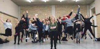 LAMDA principal Joanna Read (centre) with students in the school's new studios. LAMDA holds regular auditions in London from November to April, with other dates offered around the UK. Photo: Richard Hubert Smith