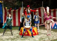 The cast of the Exeter Northcott production of The Comedy of Errors