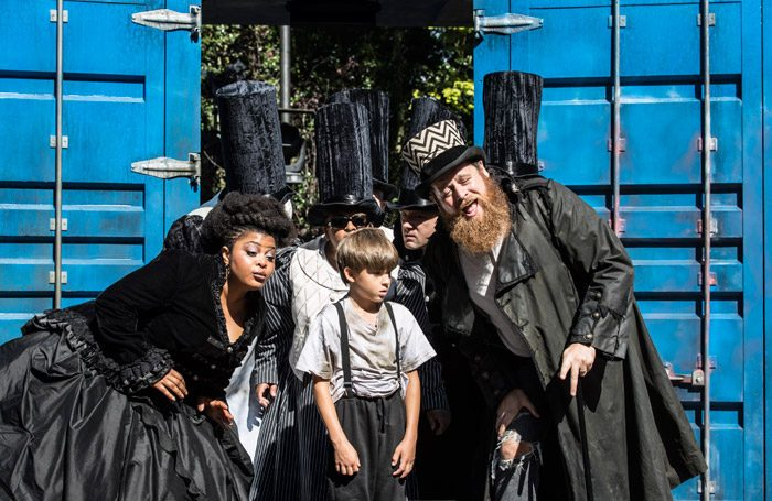The cast of Oliver Twist at Open Air Theatre, London. Photo: Johan Persson