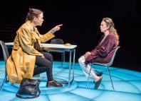 Olivia Williams and Olivia Colman in Mosquitoes at the National Theatre, London. Photo: Tristram Kenton