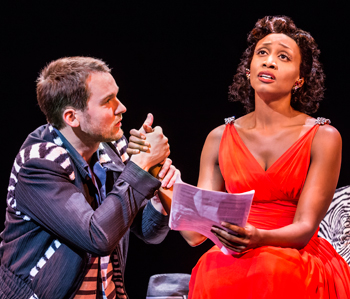 Killian Donnelly and Beverley Knight in Memphis at the Shaftesbury Theatre, London, in 2014. Photo: Johan Persson