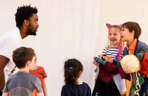 A workshop with one of London Bubble's resident drama groups. Photo: Jonathon Vines