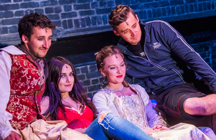 The cast of The Marriage of Kim K at the Arcola Theatre, London. Photo: Tristram Kenton