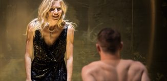 Sienna Miller and Jack O'Connell in Cat on a Hot Tin Roof at the Apollo Theatre, London. Photo: Johan Persson