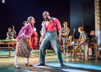 Shirley Henderson and Arinze Kene in Girl from the North Country at Old Vic, London. Photo: Tristram Kenton