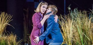 Alice Coote and Anna Stephany in La Clemenza di Tito at Glyndebourne. Photo: Tristram Kenton