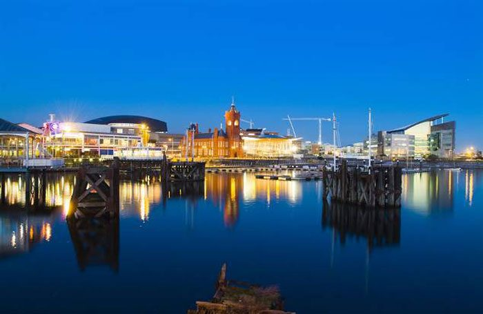 Cardiff Bay, where the Cardiff School of Acting is based