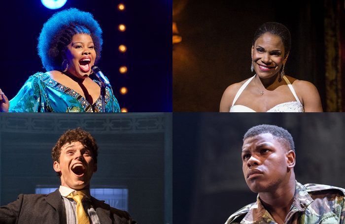 Clockwise from top left: Amber Riley, Audra McDonald, John Boyega and Charlie Stemp. Photos: Brinkhoff Moegenburg/Marc Brenner/Manuel Harlan/Manuel Harlan