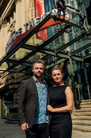 Actor Rupert Hill and business partner Goska Langrish open a new bar and restaurant called The Rivals at the Royal Exchange Theatre in Manchester