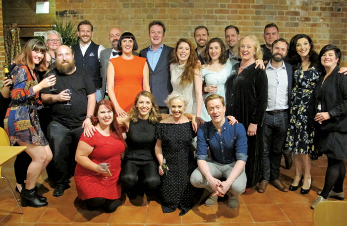 Cast and creative team of A Little Night Music at the Watermill Theatre, Newbury