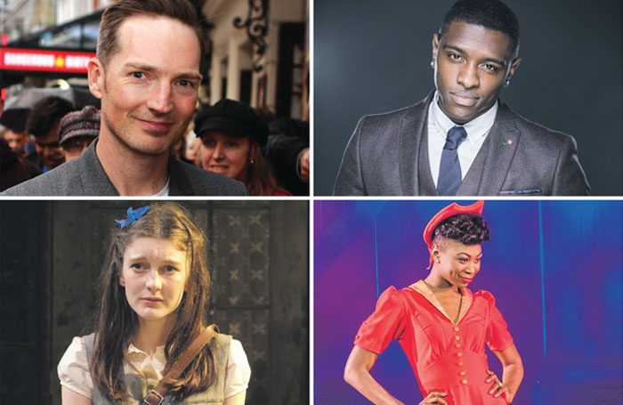 Clockwise from top left: The Stage Debut Awards nominees Dan Gillespie Sells, Adam J Bernard, Miriam Teak-Lee and Grace Molony. Photos: Adam Bennett, Tristram Kenton and Manuel Harlan