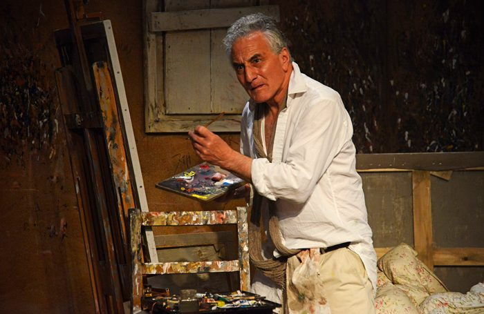 Henry Goodman in Looking at Lucian at the Ustinov Studio, Bath. Photo: Nobby Clark