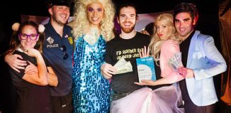 The ensemble cast of Prom Kween, winners of one of The Stage Edinburgh Awards. Photo: Alex Brenner