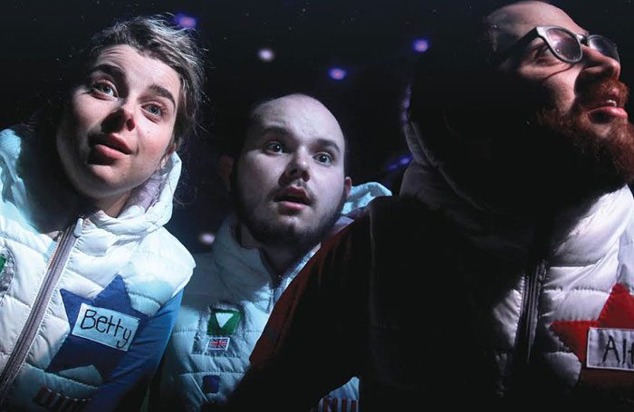 Ben Vardy, Jesse Meadows and Jack Drewry in The Star Seekers