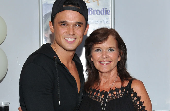 Footloose cast members Gareth Gates and Maureen Nolan celebrate the Churchill's 40th birthday