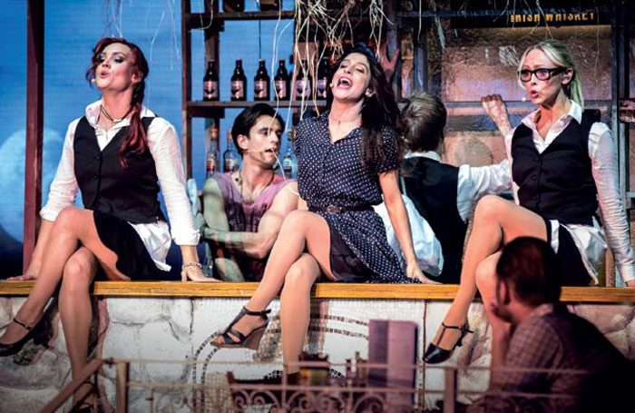 Scene from the sold-out production of Mamma Mia! The Party in Stockholm. Photo: Sam Emery