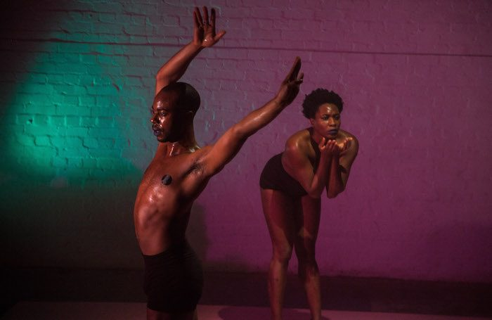 Rachael Young and Dwayne Antony in Out. Photo: Marcus Hessenberg