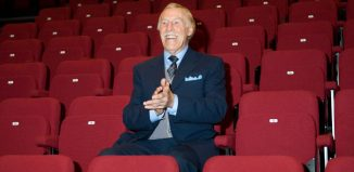 Bruce Forsyth – Jac Yarrow's good luck charm. Photo: Robert Workman