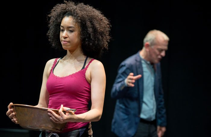 Jade Ogugua and Robert Goodale in How to Act. Photo: Tim Morozzo