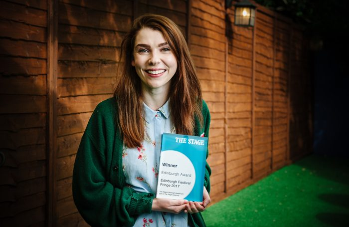 Milly Thomas, a winner of The Stage Edinburgh Award. Photo: Alex Brenner