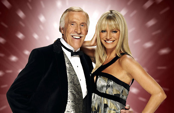 Forsyth with Tess Daly, his Strictly Come Dancing co-host. Photo: BBC/David Venni