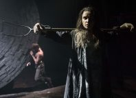 Christian Cooke and Judith Roddy in Knives in Hens at the Donmar Warehouse. Photo: Marc Brenner