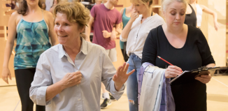 Imelda Staunton and Liz Ewing in rehearsals for Follies. Photo: Johan Persson
