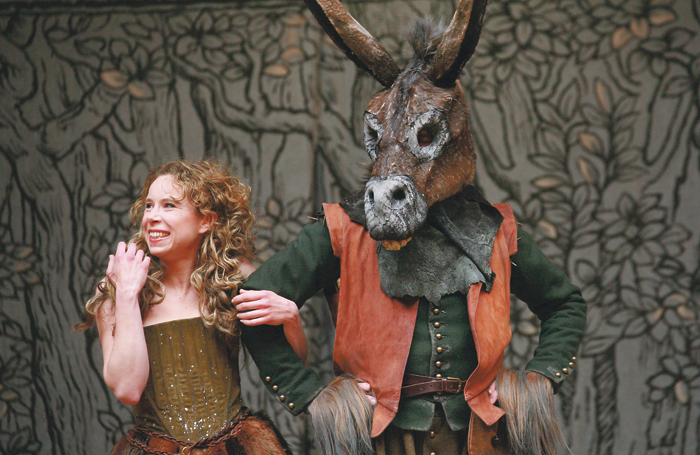 Michelle Terry performing in A Midsummer Night's Dream at Shakespeare's Globe in 2013. She will take over as artistic director of the venue in 2018