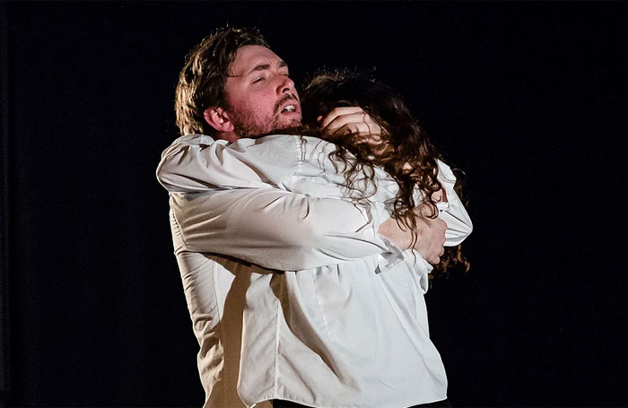 Oliver Strong and Danielle Harris in Sad Little Man at Paradise in the Vault, Edinburgh. Photo: The Other Richard