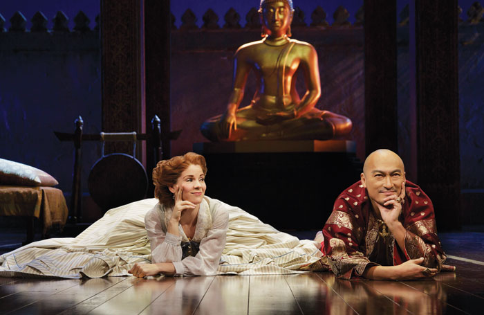 Kelli O'Hara and Ken Watanabe in The King and I in 2015 at the Vivian Beaumont Theater. Photo: Paul Kolnik