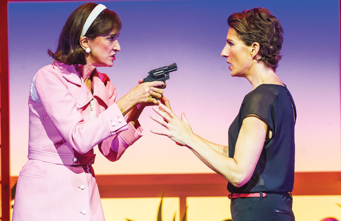 Haydn Gwynne and Tamsin Greig in Women on the Verge of a Nervous Breakdown at London's Playhouse Theatre in 2015. Photo: Tristram Kenton