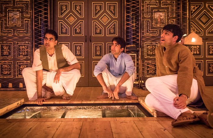 The cast of Lions and Tigers at Sam Wanamaker Playhouse, London. Photo: Marc Brenner