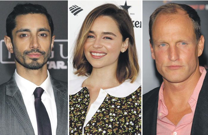 Riz Ahmed, Emilia Clarke and Woody Harrelson have already been announced as patrons of the Open Door scheme. Photos: Shutterstock