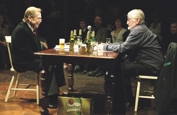 Vaclav Havel and Pavel Landovsky in Havel's play Audience. Photo: Robert Day