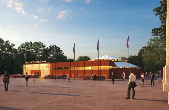 Artist's impression of the new Marble Arch Theatre, hosting Five Guys Named Moe. Photo: Imaginar