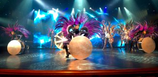 A performance on-board one of Carnival's cruise ships
