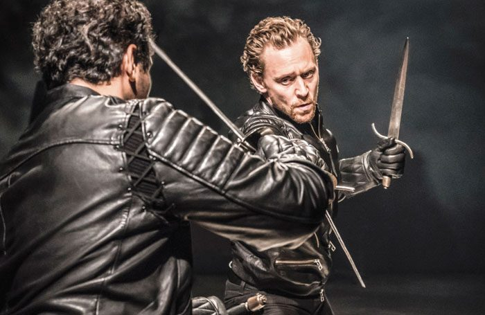 Tom Hiddleston in Hamlet at RADA. Photo: Johan Persson