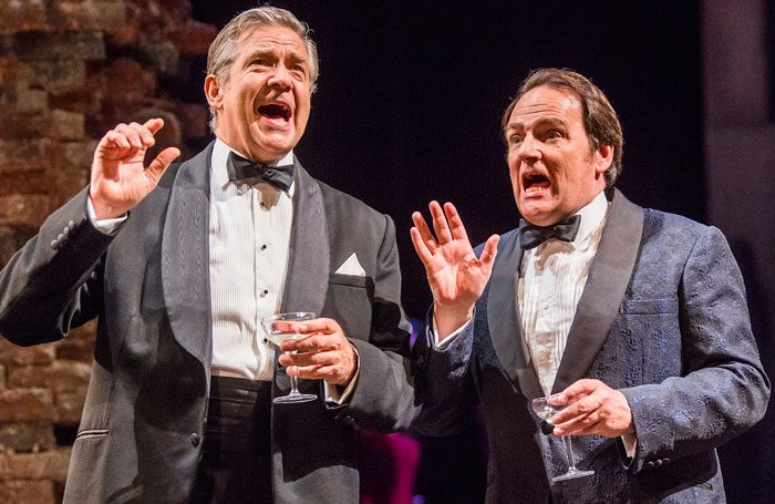 Philip Quast with Peter Forbes in Follies. Photo: Tristram Kenton