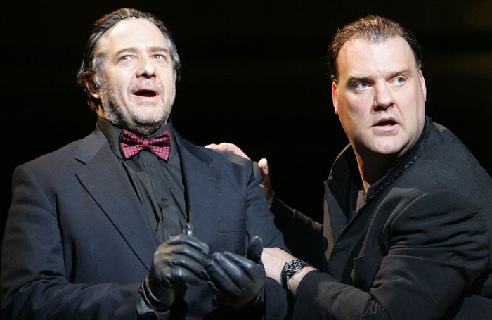 Philip Quast and Bryn Terfel in Sweeney Todd at Royal Festival Hall in 2007. Photo: Tristram Kenton