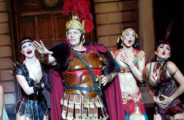 Philip Quast in A Funny Thing Happened on the Way to the Forum at the Olivier, National Theatre, in 2004. Photo: Tristram Kenton