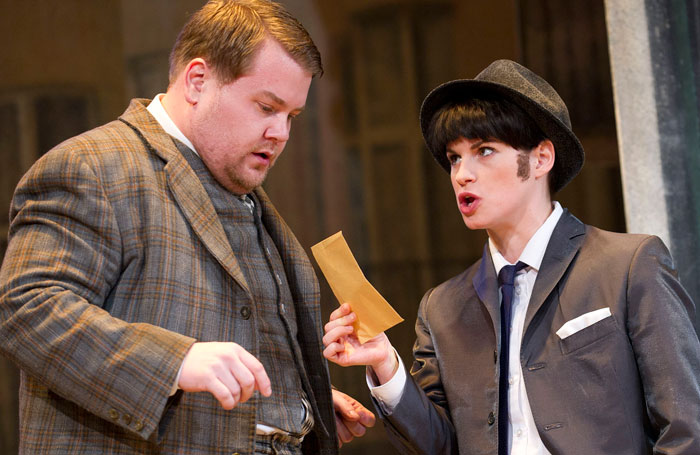 Rooper with James Corden in One Man Two Guvnors. Photo: Tristram Kenton