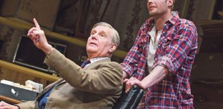 Real-life father and son James and Jack Fox starred in the reflective family drama Dear Lupin at the Apollo Theatre, London, in 2015. Photo: Tristram Kenton