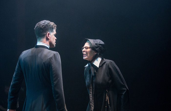 Jonathan Chambers and Stella Gonet in Doubt at Southwark Playhouse, London. Photo: Paul Nicholas Dyke