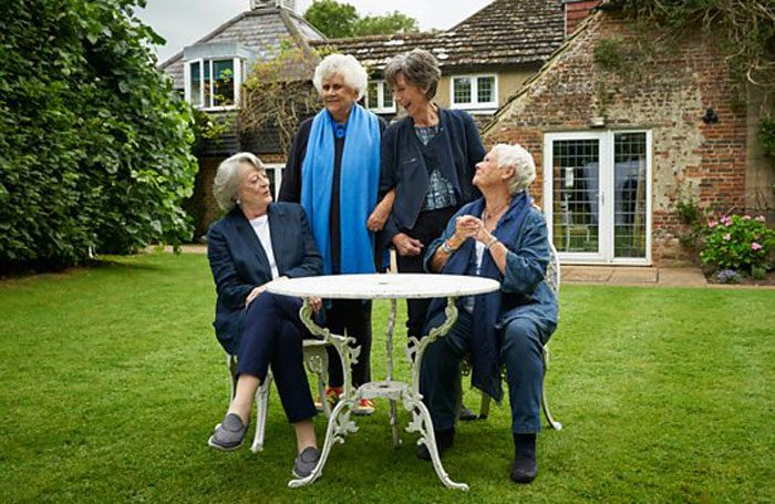 Maggie Smith, Joan Plowright, Eileen Atkins and Judi Dench as they appear in Nothing Like a Dame. Photo: BBC